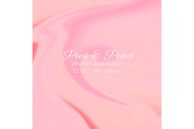 Pink and Peach soft wave abstract background
