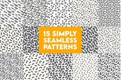 Simple seamless pattern set