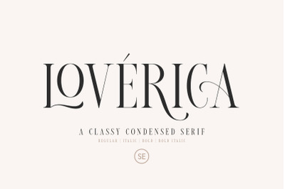 Loverica - Modern Condensed Serif