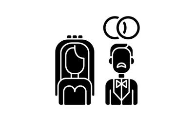 Wedding black glyph icon