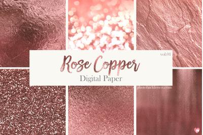 Rose Copper Digital Paper vol 1