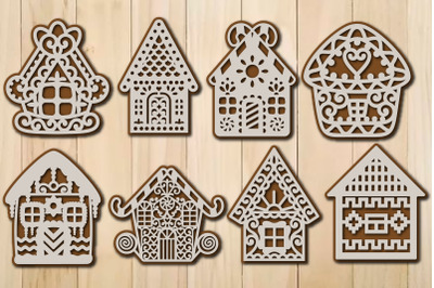 Christmas Gingerbread House Template SVG