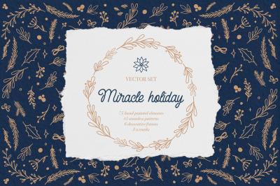 vector set Miracle holiday
