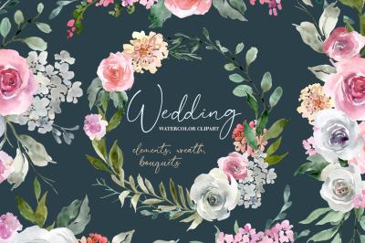 Wedding Watercolor Florals