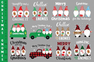 Christmas Gnomes Bundle Svg