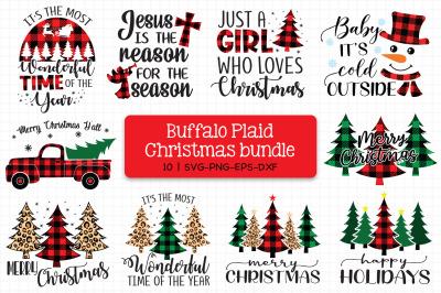 Christmas Buffalo Plaid Bundle Svg