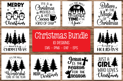 Christmas Quotes Bundle, Christmas Silhouette Bundle