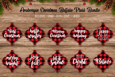 Buffalo Plaid Arabesque Bundle, Christmas Arabesque Bundle