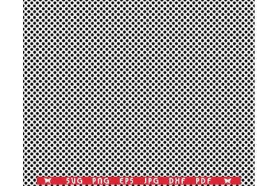 SVG Black Dots, Seamless pattern digital clipart