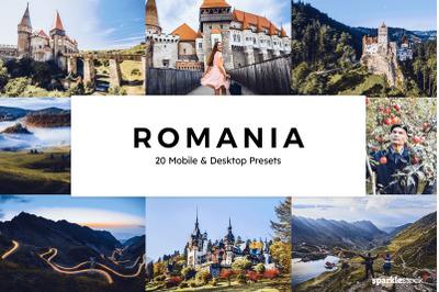 20 Romania Lightroom Presets & LUTs
