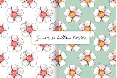 Simple floral patterns