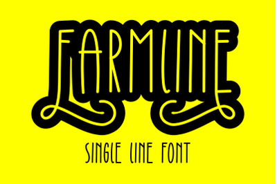 Farmline - Single Line - Hair Line Font