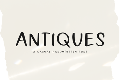 Antiques - Handwritten Farmhouse Font
