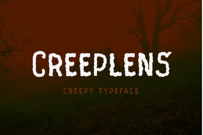 Creeplens - Creepy Typeface