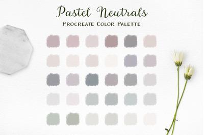 Pastel Neutrals Procreate Color Palette