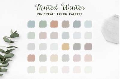 Muted Winter Procreate Color Palette