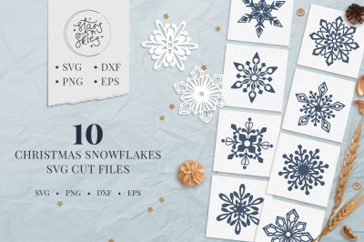 Christmas Snowflakes SVG Cut-Files