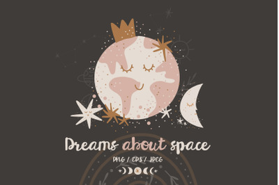 Dream about space. Baby collection