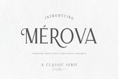 Merova - Classic Serif (5 Fonts)