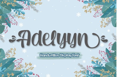 Adelyyn Display Font