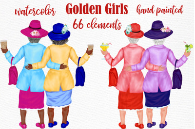 Old Ladies clipart Golden Girls Granny clipart Older Women