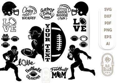 Football Bundle SVG - 22 American Football SVGs