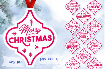 Arabesque Christmas Ornament - SVG Bundle