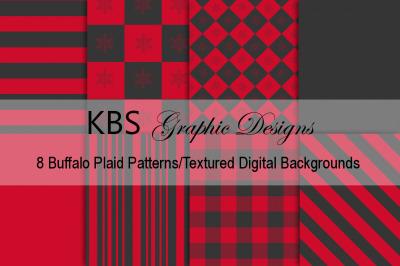 Buffalo Plaid Digital Backgrounds