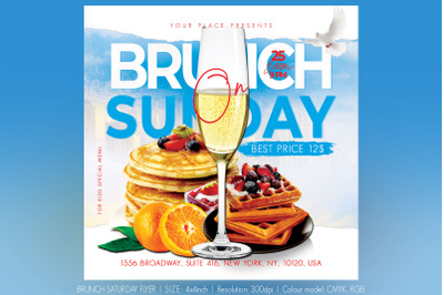 Brunch Saturday Flyer