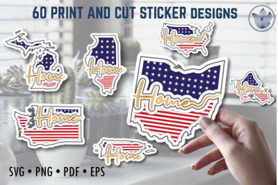 Print and cut svg sticker designs, Home, flag pattern