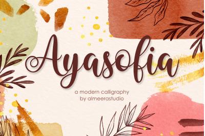 Ayasofia | Modern Calligraphy