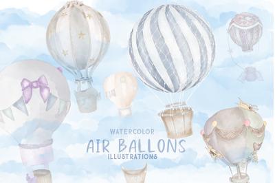 Air balloons 6 illustrations