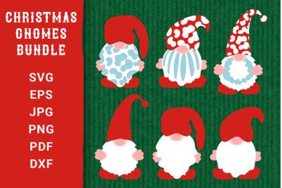 Christmas Gnomes SVG Bundle. Cut Files