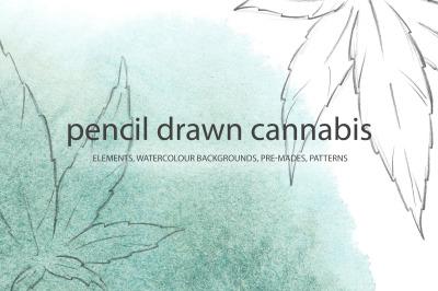 Pencil drawn cannabis