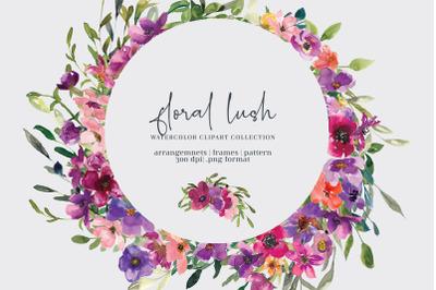 Colorful Floral Frames Clipart Set