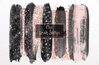 Chic Brush Strokes Clipart