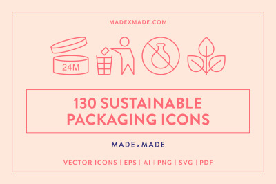 Line Icons - Sustainable Packaging