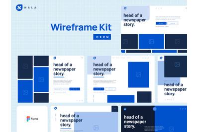 Nala Wireframe Kit Figma & PSD
