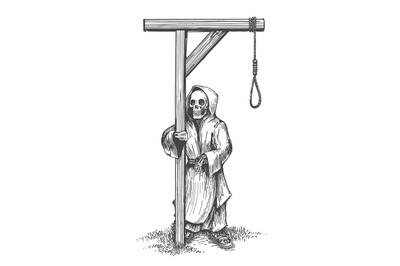 Death Standing Close to the Gallows