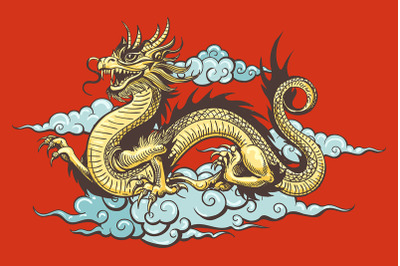 Traditional Chinese Dragon in the Sky
