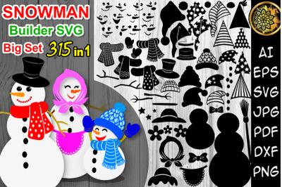 DIY Snowman Builder Big Set SVG Clipart