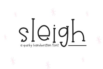 Sleigh - Fun Handwritten Font