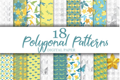 Polygonal. Digital Paper