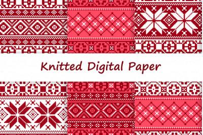 Christmas Knit Digital Paper JPEG 18