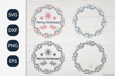 Christmas Wreath SVG graphic, Christmas ornament SVG file