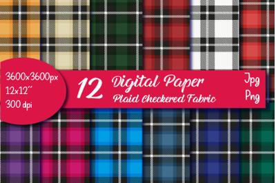 Plaid Bundle, Plaid Digital Plaid Background, Checkered Digital
