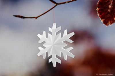 DIY Christmas Snowflake Dangler - 3d papercraft