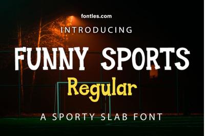 Funny Sports Regular Slabfont