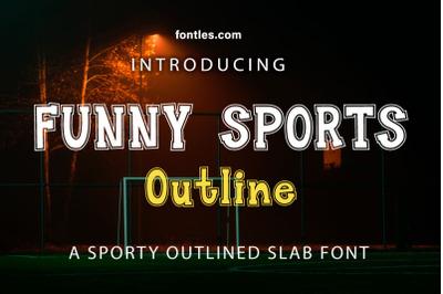 Funny Sports Outline Slabfont