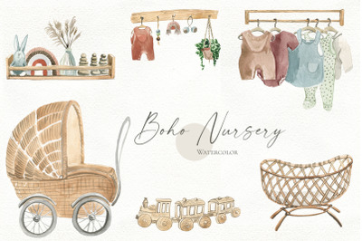 Boho Nursery Watercolor